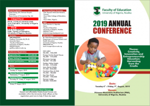 Faculty of Education 2019 Conference Llier for slide